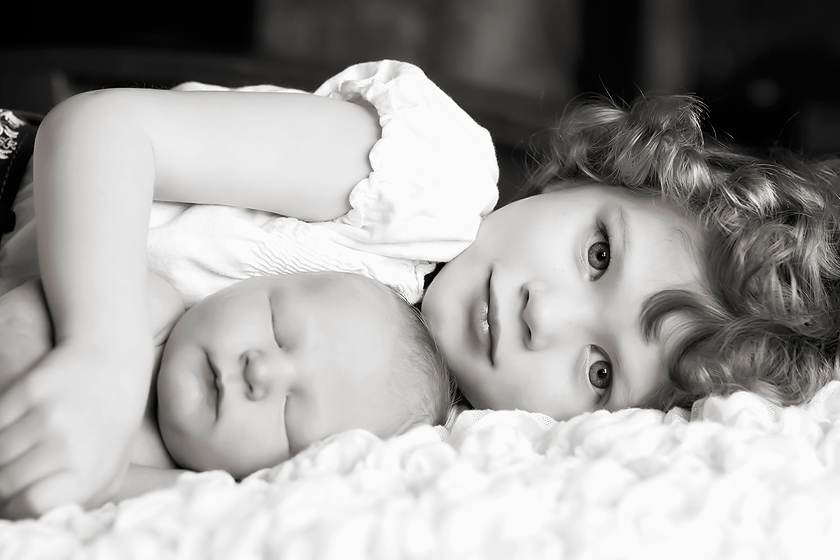 sibling with newborn brother