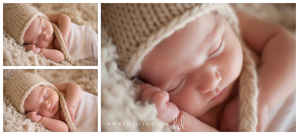 Simple and natural professional newborn photos in soft neutral tones | Avon CT photo studio | Top CT newborn photographer Kelli Dease | www.kellidease.com