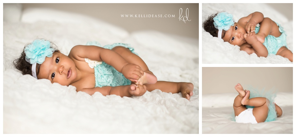 Canton CT Natural Light Baby Photo Session | Simsbury, Avon, Farmington, Granby CT baby photographer | In-studio six-month baby photo session | baby and child photographers | Kelli Dease Photography | www.kellidease.com