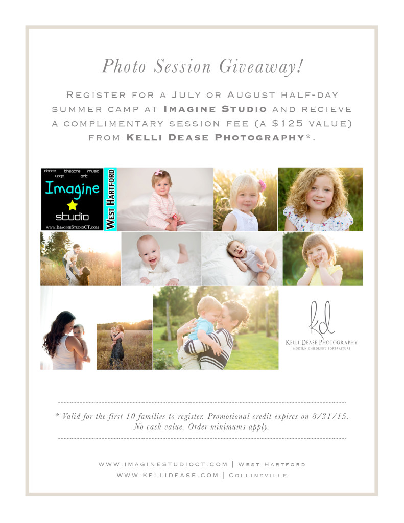 West Hartford Children's Photography session giveaway.