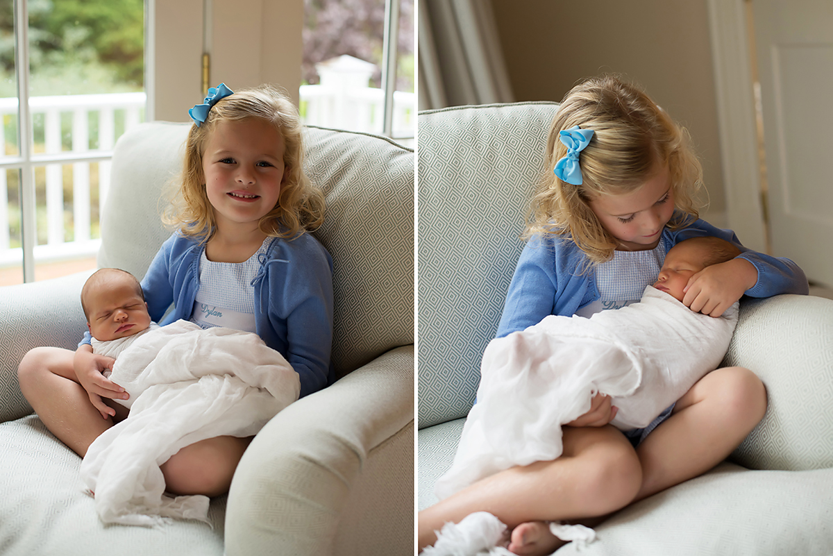 classic baby with sibling photo | West Hartford | Granby | Farmington | Top CT newborn photographer Kelli Dease