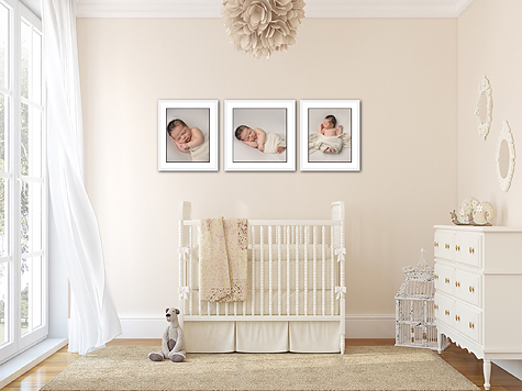 Custom framing offered by CT fine art newborn photographer Kelli Dease