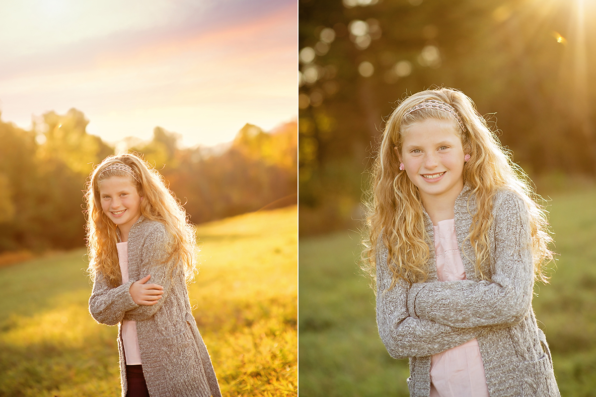 OUTDOOR TWEEN SUNSET PHOTO SESSION LITCHFIELD CT KELLI DEASE