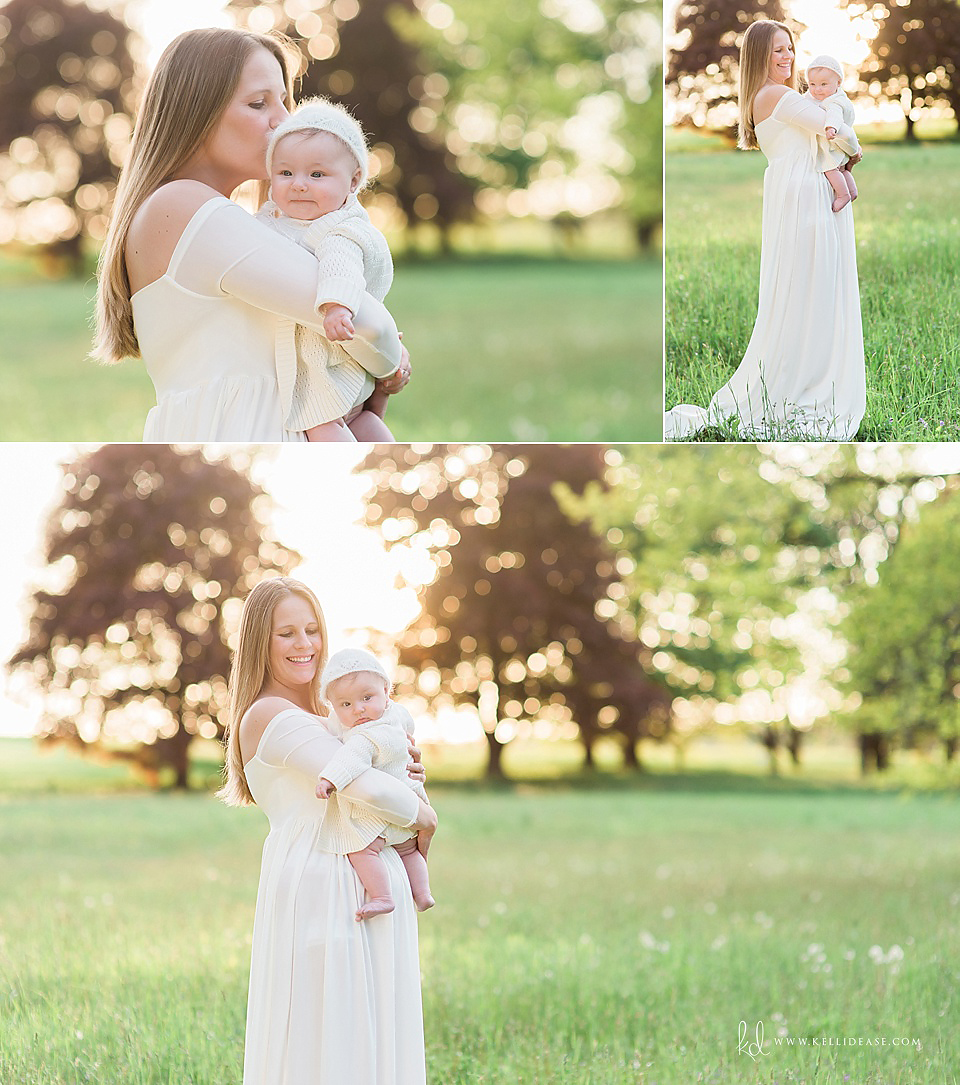 Mother and baby at Topsmead Park in Litchfield Connecticut. Outdoor family photo session by top CT photographer Kelli Dease.