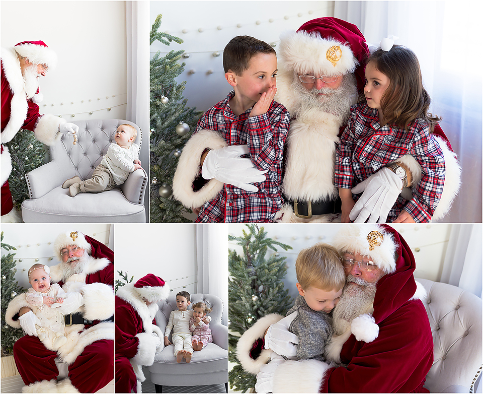 Santa Claus mini photo sessions. Holiday and Christmas photo sessions. CT portrait studio.
