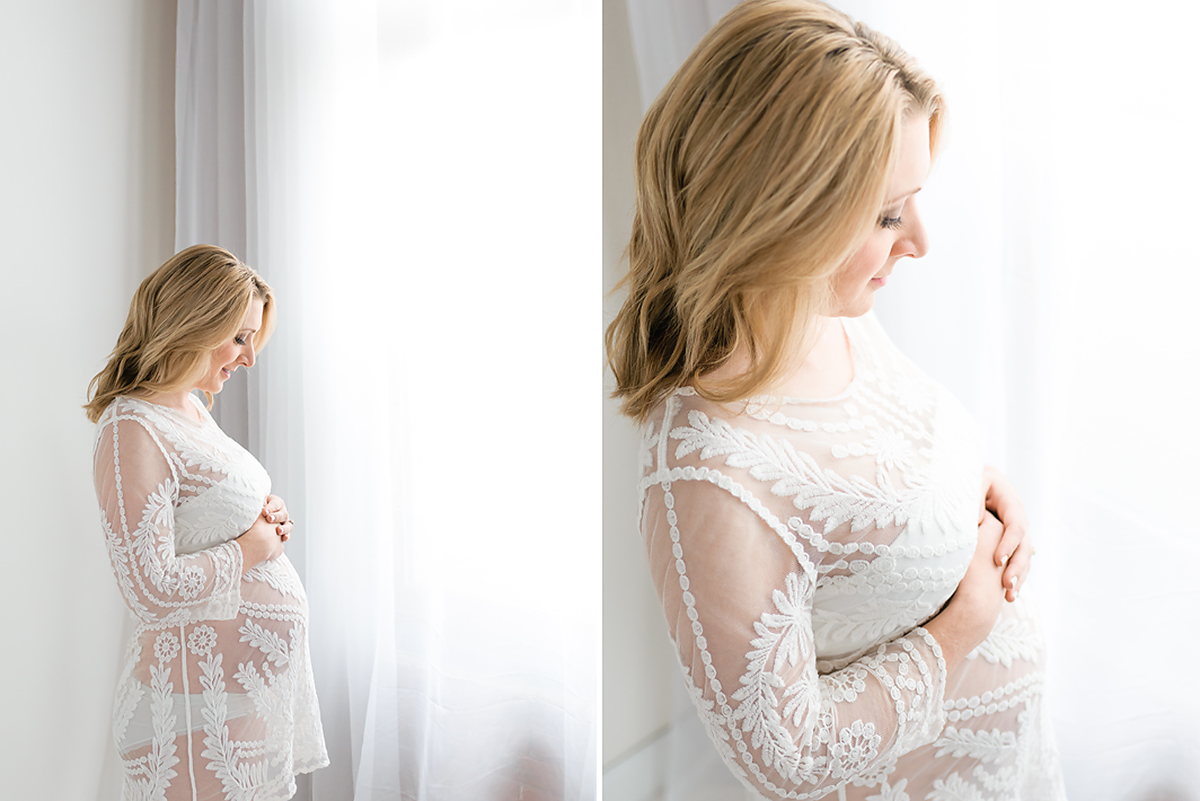 Indoor Pregnancy Photo Shoot Connecticut | Simple, light and airy pregnancy photography | Farmington, CT Pregnancy Photographers | CT Pregnancy Photography Studio |www.kellidease.com