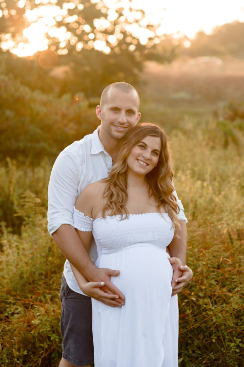 Outdoor Sunset Maternity Field Session in Connecticut | CT Maternity Photographer | Hartford County Family Photography | CT Photography | www.kellidease.com